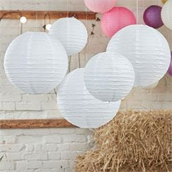 Boho Wedding Paper Lanterns - (5 colours options)