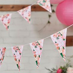 Boho Wedding Floral Card Bunting - 3m