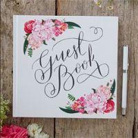 Boho Wedding Floral Guest Book