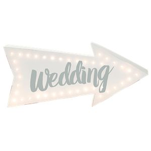 White Wedding Arrow Light - 40cm