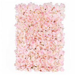Pink or Cream Hydrangea Flower Wall Backdrop - 60cm