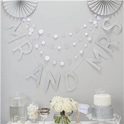 Metallic Perfection 'Mr & Mrs' Wedding Bunting - 2m