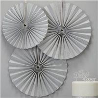 Metallic Perfection Paper Fan Decorations - 36cm