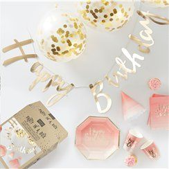 Pick & Mix Pink & Gold Party In a Box