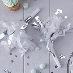 Pick & Mix Silver Party Blowers