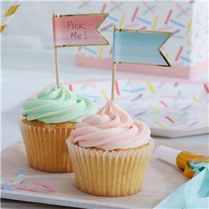 Pick & Mix Ombre Cupcake Picks - 10cm
