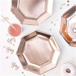 Pick & Mix Rose Gold Paper Plates - 25cm