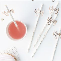 Pick & Mix Rose Gold 'Yay' Straws