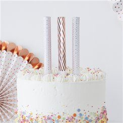 Pick & Mix Rose Gold Cake Fountain Candles - 16cm