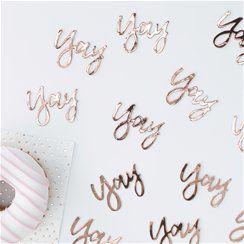 Pick & Mix Rose Gold 'Yay' Confetti - 14g Bag
