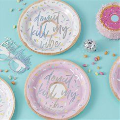 Good Vibes Iridescent 'Donut Kill My Vibe' Paper Plates - 25cm