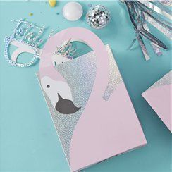 Good Vibes Holographic Flamingo Party Bags - 26cm
