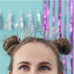 Good Vibes 'Let's Party' Iridescent Headbands