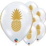 "Golden Pineapple Diamond Clear Balloon - 11"" Latex"