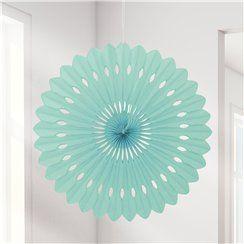 Mint Green Paper Fan Decoration - 41cm