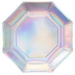 Iridescent Party Plates - 25cm Paper Party Plates