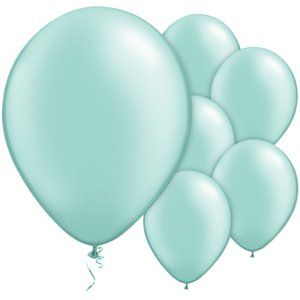 Mint Green or Pink Pearl Balloons - 11'' Latex