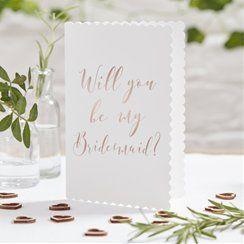 Beautiful Botanics Rose Gold 'Will You Be My Bridesmaid?' Cards