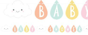 Sunshine Baby Showers Ribbon Letter Banner - 2.6m
