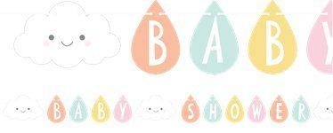 Sunshine Baby Showers Ribbon Letter Banner - 2.6m