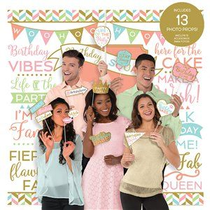 Confetti Fun Wall Decorating Kit with Photo Booth Props