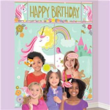 Magical Unicorn Photo Booth Kit - Props & Backdrop