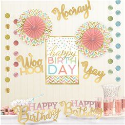 Confetti Fun Birthday Room Decorating Kit