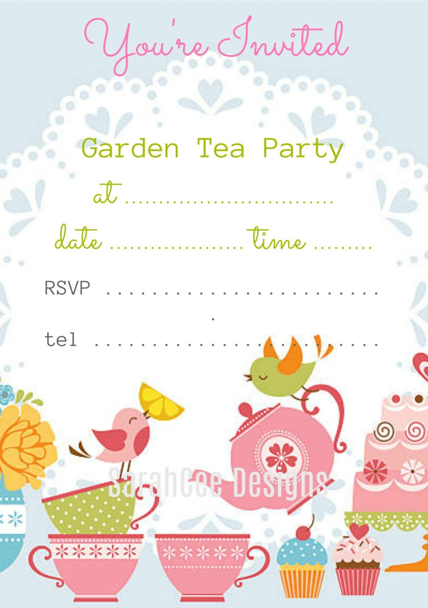 Garden & Tea Party Invitations