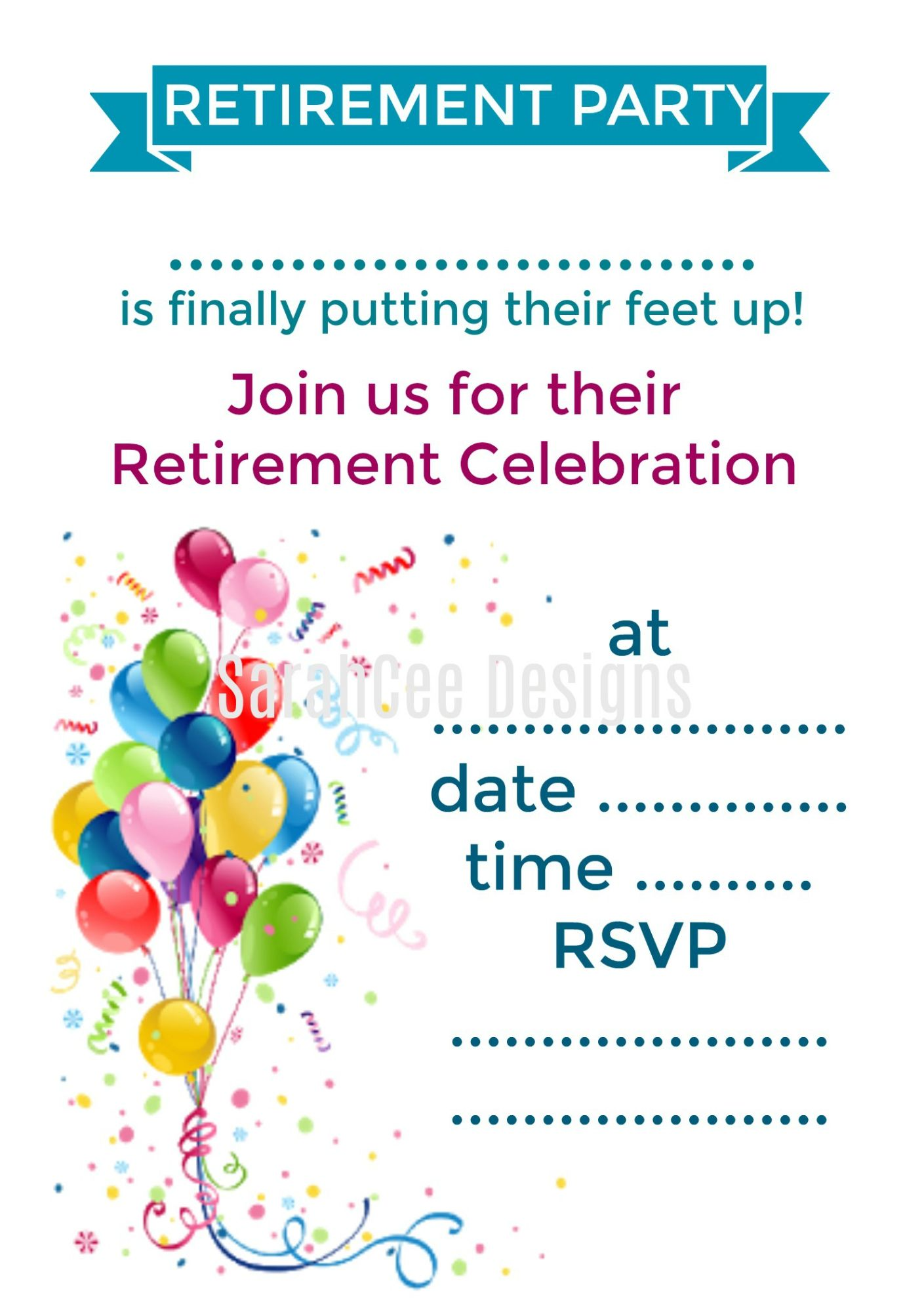 Retirement Party Invitations