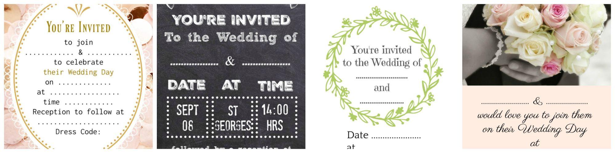 Wedding Stationery Examples