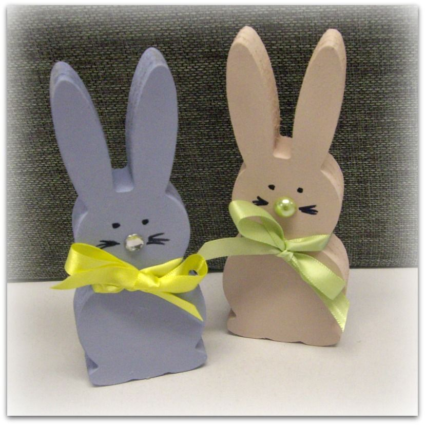 Hand Painted Bunnies