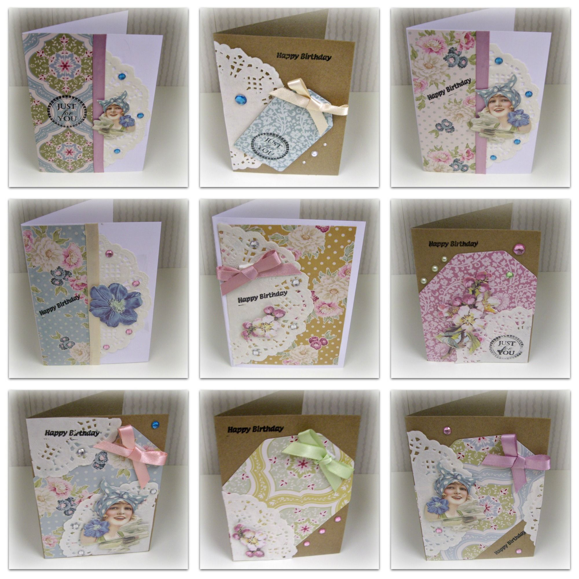 A selection of handmade cards