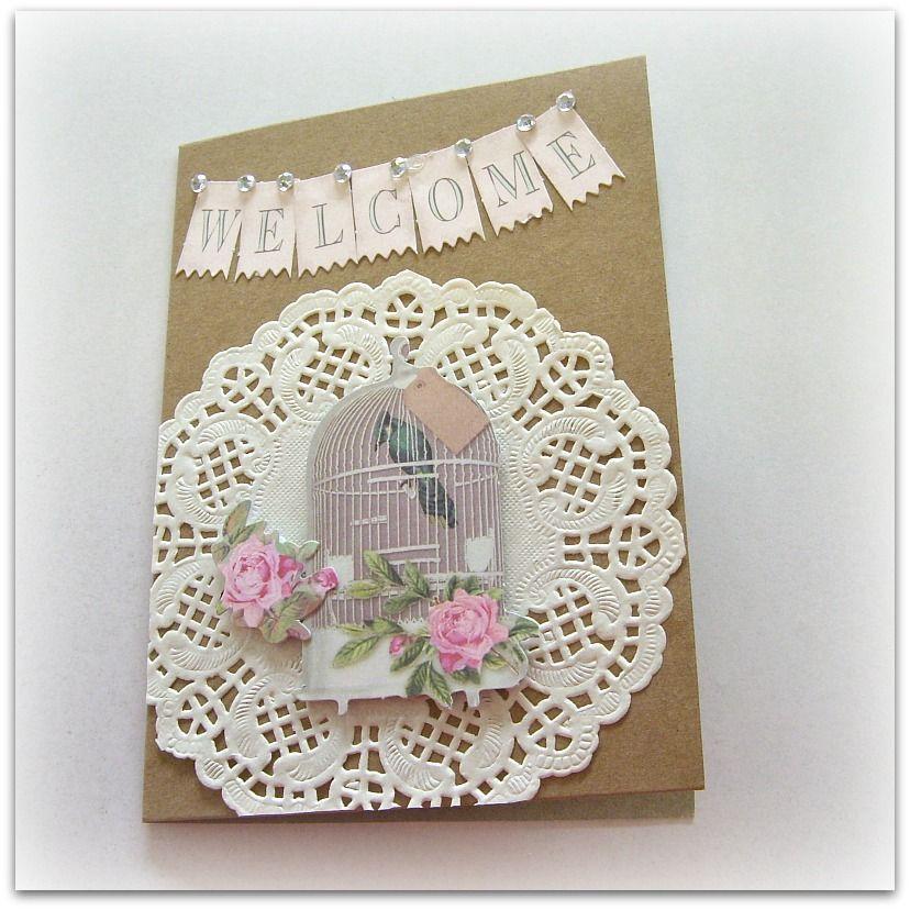 Handmade new home card