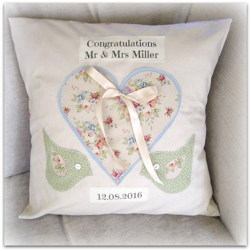 Handmade wedding cushion