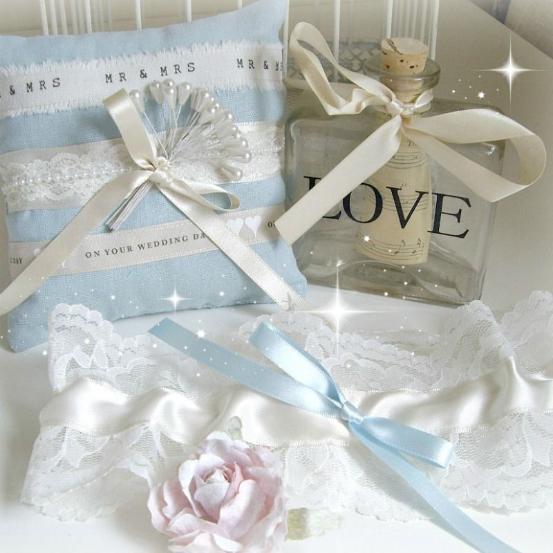 Handmade ring  pillow & garter