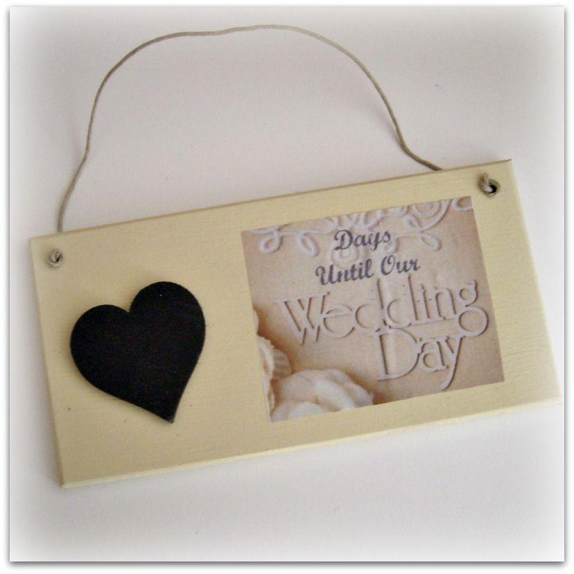 Handmade wedding day plaque