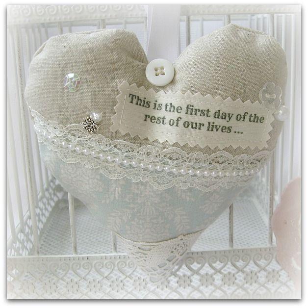 Handmade wedding hearts