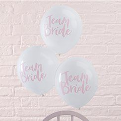 Team Bride hen party balloons