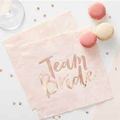 team bride hen party napkins