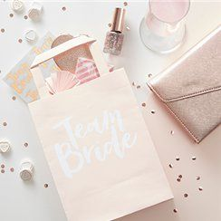 Team Bride hen party paper party bags