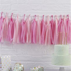 Pink tossie tassel garland party decorations