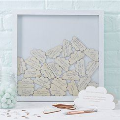 Wooden Frame baby shower guestbook