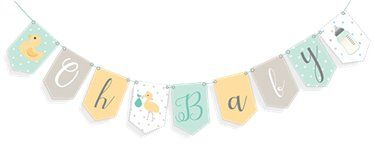 Oh Baby baby shower bunting