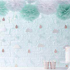 Baby shower raindrop decoration