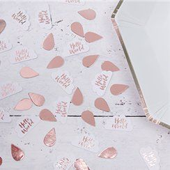 Baby shower party table confetti