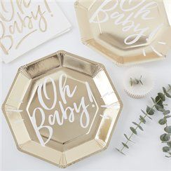 Oh Baby! Baby shower party plates
