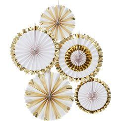 Baby shower gold foiled paper decorations