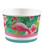 Flamingo ice cream tubs