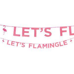 Let's Flamingle flamingo party garland