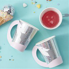 Flamingo paper party cups